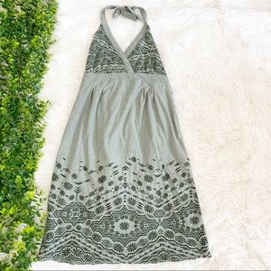 Athleta Balsa Burnout Green Halter Dress